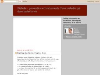 Diabète - Prévention et traitements sur http://diabete-fr.blogspot.com/