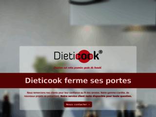 Capture du site http://www.dieticook.com/