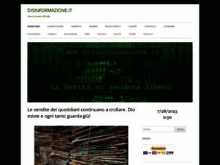 Info: Scheda e opinioni degli utenti : Disinformazione.it - Oltre la Verità Ufficiale - Notizie e informazioni da mondo