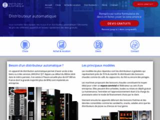Aperçu du site Distributeur automatique en libre service