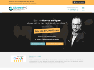 Divorce MG, divorce par internet