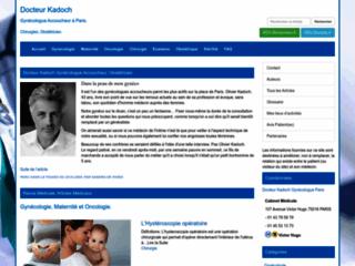 Docteur Kadoch Gynécologue Paris