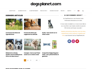 Dog's Planet est le site des passionnés du chien