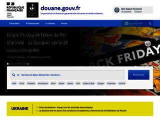 Site internet de la Douane