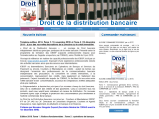 Capture du site http://www.droit-distribution-bancaire.fr/