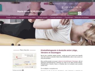 Marie-Anne Dubuisson, kinésithérapeute d'expérience à Verviers
