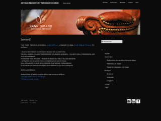 Capture du site http://www.ebenisterietapisserie.com