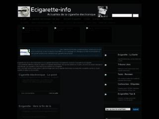 Ecigarette, la cigarette électronique sur http://www.ecigarette-info.com