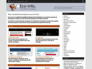 Aperçu du site Eco-Info