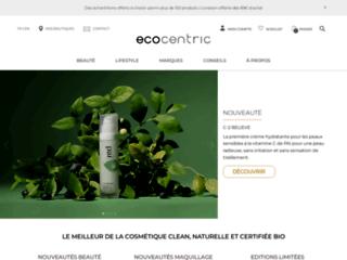 Boutique en ligne de cosmétiques bio et vêtements bio éthiques Ecocentric