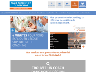 Capture du site http://www.ecole-superieure-coaching.com/