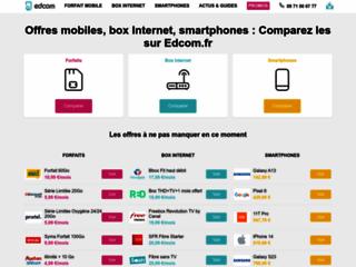 Capture du site http://www.edcom.fr