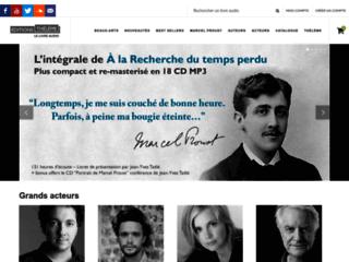 Offrir un audio book disponible sur le site internet des Editions Thélème