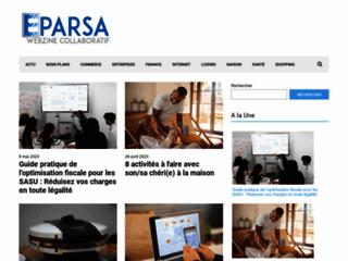 Aperçu du site Eparsa