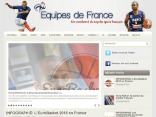 Capture du site http://www.equipes-de-france.fr/