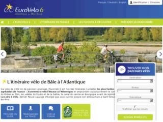 Capture du site http://www.eurovelo6.org