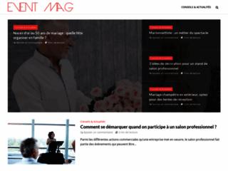 Aperçu du site Event-mag.com