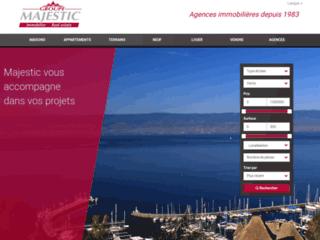 Aperçu du site Majestic Immobilier