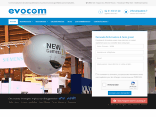 Détails : Evocom: fabrication d'outils promotionnels originaux