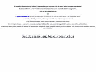 Boutique cosmétique bio  sur http://www.evydemmentbio.com