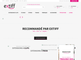 Extension sur eXTIFF.com, N�1 de l'extension de cheveux