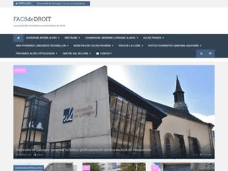 Détails : les universités de droit