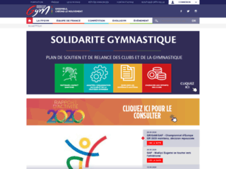 Capture du site http://www.ffgym.com
