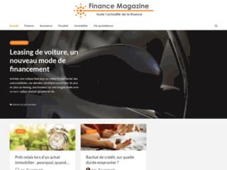 Aperçu du site Finance Magazine