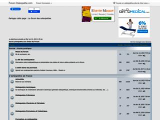 Forum ostéopathie sur http://forum.osteopathe.com