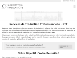 Agence de traduction – Business Team Translations