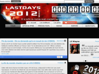 Capture du site http://fr.lastdays2012.com