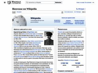 Aperçu du site Wikipédia