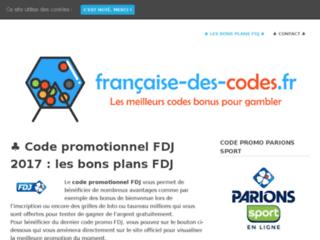 Française Des Codes, les meilleurs codes promo pour gambler