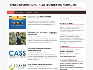 Détails : France informations - news : publiez vos actualités
