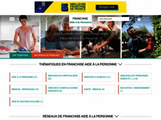 Capture du site http://www.franchise-aide-a-la-personne.fr