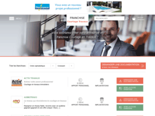 Capture du site http://www.franchise-courtage-en-travaux.fr
