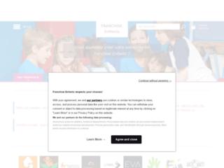 Capture du site http://www.franchise-enfants.fr