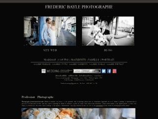 Capture du site http://www.fredbayle-mariage.fr