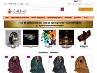 Bijoux en pierres fines naturelles, artisant tibétain, pashminas en laine, vetements de création