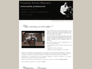 François-Xavier Bigorgne violoncelliste professionnel