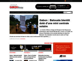 Capture du site http://gabonreview.com