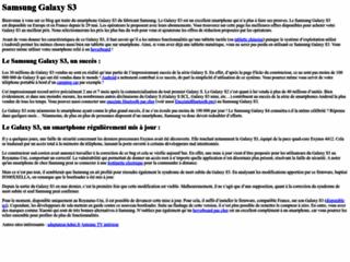 Détails : Galaxy S3
