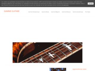 Cours de guitare pour apprendre les gammes