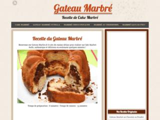 Détails : Gateau Marbre :  Recette gâteau marbré  en -10 min