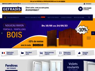 Capture du site http://www.gefradis.fr