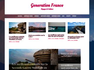 Generation France, site de voyage