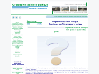 GEOGRAPHIE SOCIALE ET POLITIQUE