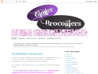 Cr�ation de bijoux textiles - Ginger Brocolliers