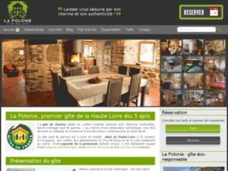 Aperçu du site Gîte La Polonie