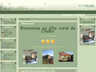 Gite rural de Chalet pour un week end détente en montagne (Massiac / Cantal / Auvergne)